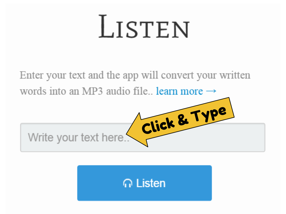 how to create audio file from text