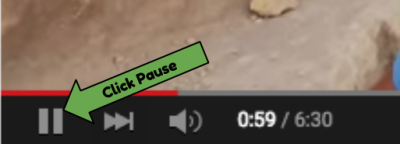 Youtube pause