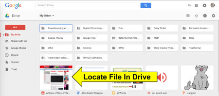 find file in drive