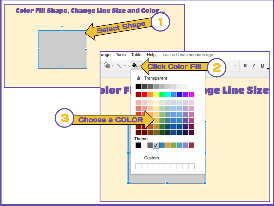 google slide color fill shapes and change outline ms drasby s ed