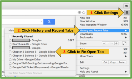 3 Easy Steps to reopen tab