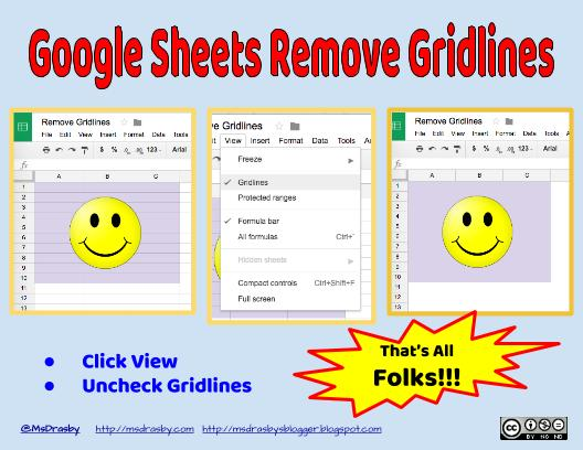 google sheets how to create gridlines